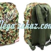 Рюкзак городской VANS камуфляжный (ранец спортивный): 43х30х13см, 5 цветов