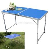 Стол складной туристический ZZ18007-blue, столик для пикника