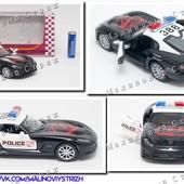 Металлическая инерционная машинка Kinsmart, полиция, Dodge Viper, резиновые колеса