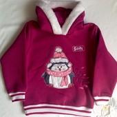 Новая, теплая кофточка Babexi для девочки 12-18 мес ( 80-86 рр.)
