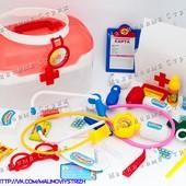 Супер набор доктора Чудо - аптечка в чемодане, 34 предмета! Все необходимые инструменты