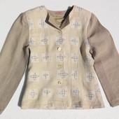 Льняной авторский пиджак на осень. Размер: 38 / 10 / M