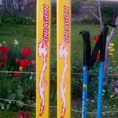 Лыжи с чехлом детские Olympic Spirit на рост ребёнка 140 см