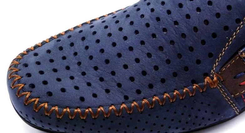 Мокасины falcon, р. 40-45, натур. кожа, перфорация, 4 цвета, код kv-2947 фото №11