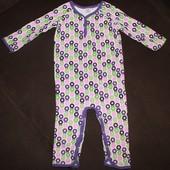 Человечек пижамка тонкий девочке на 1 год