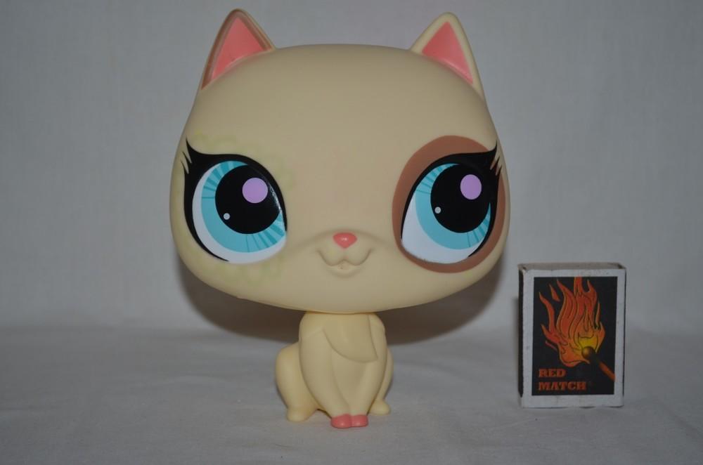 Пет шопы pet shop игрушки зоомагазин littlest pet shop lps большая кошка котенок hasbro оригинал фото №1