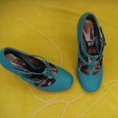 Бирюзовые,фирменные туфли Dorothy Perkins,размер 37.
