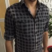 Фирменная рубашка мужская Next размер ХS-S