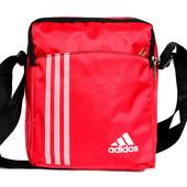 Спортивная стильная красная сумка под Adidas (Ч3)