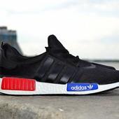 Кроссовки мужские Adidas NMD черные адидас нмд