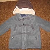 Куртка, пальто для мальчика зима +шапка