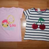 Фирменные,красивые футболки George,F&F на девочку 5-6лет.110-116см.