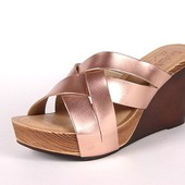 100-21-030 Женская летняя обувь, сабо, Inblu, Инблу, цвет -розовый перламутр, размеры 36-41