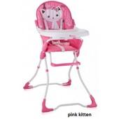 Стульчик детский для кормления Bertoni Candy Pink Kitten (розовый), с рисунком