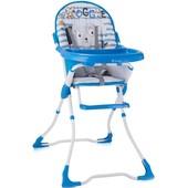 Стульчик для кормления Bertoni Candy Blue Doggie (синий), с рисунком