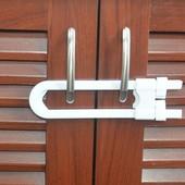 U-образный замок на дверки шкафа.