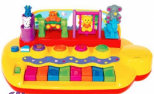 Распродажа - пианино зверята на качелях (свет, звук)  от kiddieland фото №1