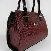 Шикарная сумка Лак Рептилия (1