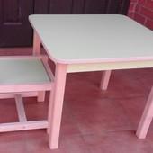 Детская мебель столик (стол) со стульчиком. Согласно госта. Сертифицированная парта в садик