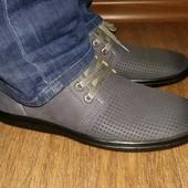 Мужские туфли перфорация в наличии