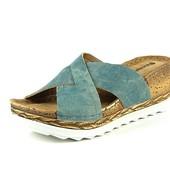 100-5-041 Женская летняя обувь, сабо, Inblu, цвет - джинс, размер 36-41