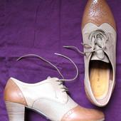 Немецкие туфельки, ботильоны в стиле ретро от ТМ Marco Tozzi