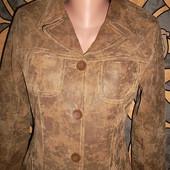 Кожаная куртка-пиджак Отличное состояние ПОГ=47 см. Натуральная кожа