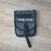 Сумка для документов на пояс для путешествий.