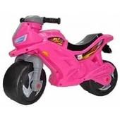 Толокар мотоцикл, розовый