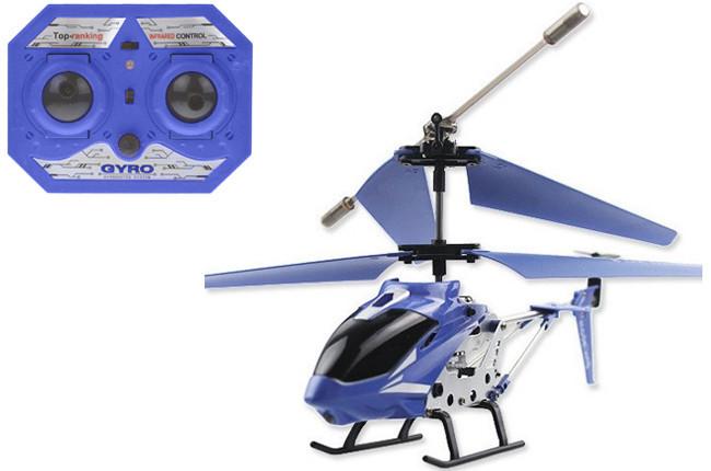 Вертолет радиоуправляемый 33008 model king синий фото №1