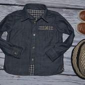 2 - 3 года 92 - 98 см Фирменная красивенная рубашечка рубашка джинсовая