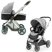 Детская универсальная коляска 2 в 1 BabyStyle Oyster 2 silver mist / mirror