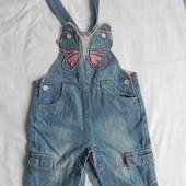 Оригинальный комбинезон теплый джинсы песочник ромпер