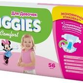 Подгузники Huggies Ultra Comfort для девочек 12-22 кг. 56 шт *400 грн. новая упаковка  *