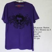 Стильная мужская футболка Burton. Отличное состояние. Фирменная, бренд.