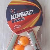 Настольный теннис 2 ракетки 3 мяча в блистере