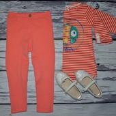 2 - 3 года 98 см Яркие модные фирменные легинсы лосины наездницы девочке