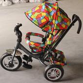 Велосипед трехколесный Tilly Trike T-351-10  с большими надувными колесами. Новые цвета