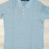 Поло футболка серая для мужчин размер М-48/50 и L-52/54