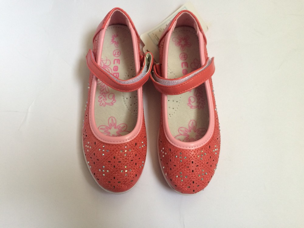 Туфли для девочки корал фото №2