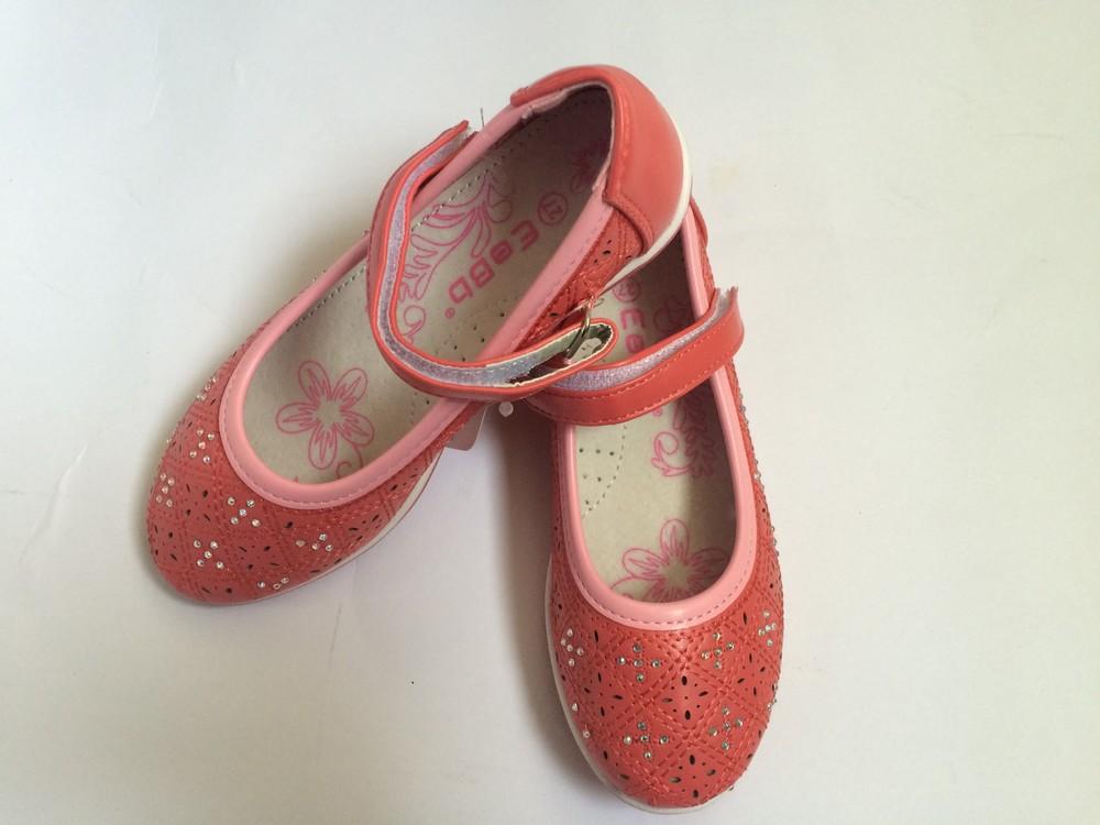 Туфли для девочки корал фото №3
