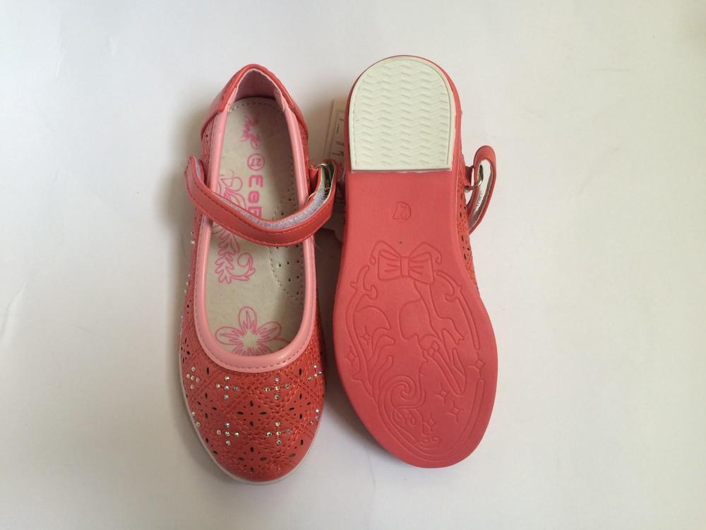 Туфли для девочки корал фото №6