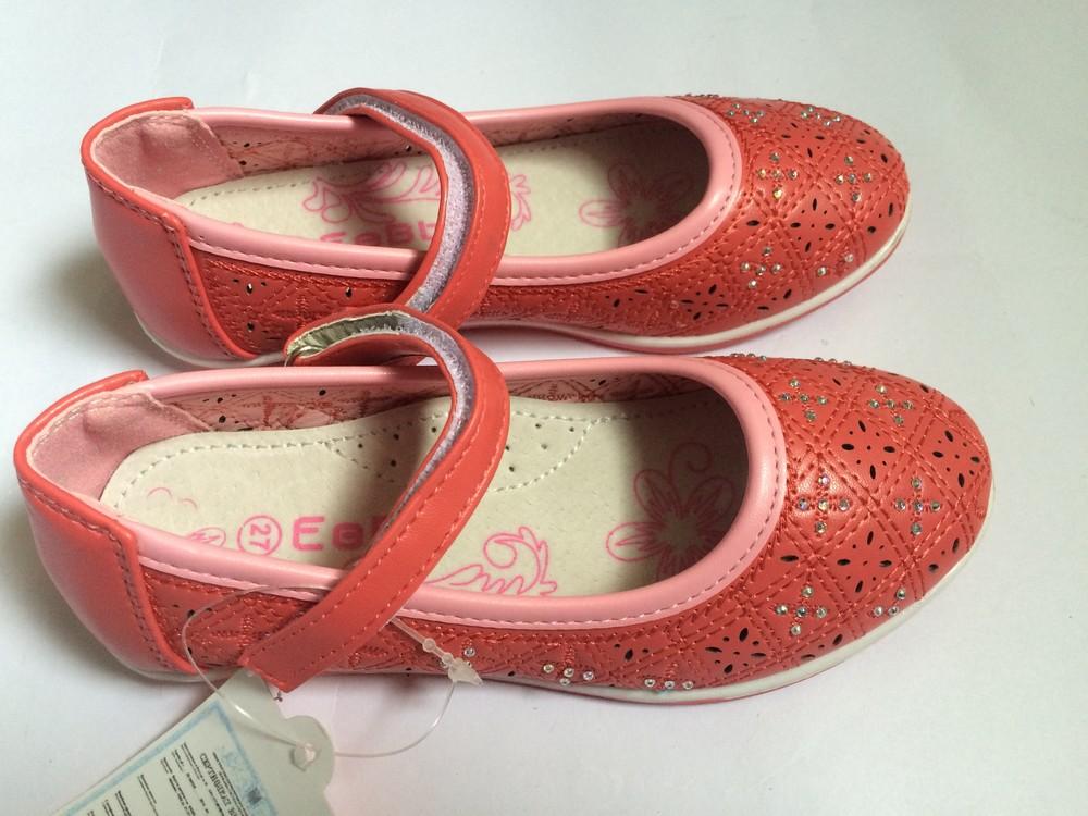 Туфли для девочки корал фото №8