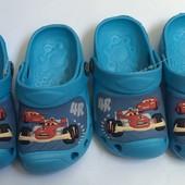 Кроксы голубые