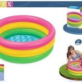 бассейн Интекс для деток от 6 мес до 3 лет. отличный вариант для моря. дно надувное! 61х22 см