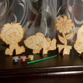 Набор Эко раскраски по дереву! Статуэтка деревянная!