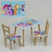 Столик стол 2  стула деревянный