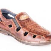 мужские кожаные сандалии,босоножки модель :026