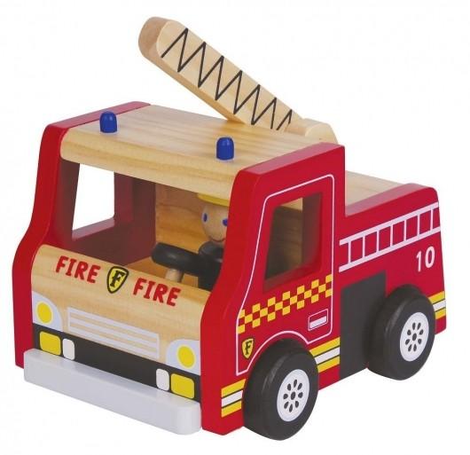 Пожарная деревянная машина, lelin (65-010) фото №1