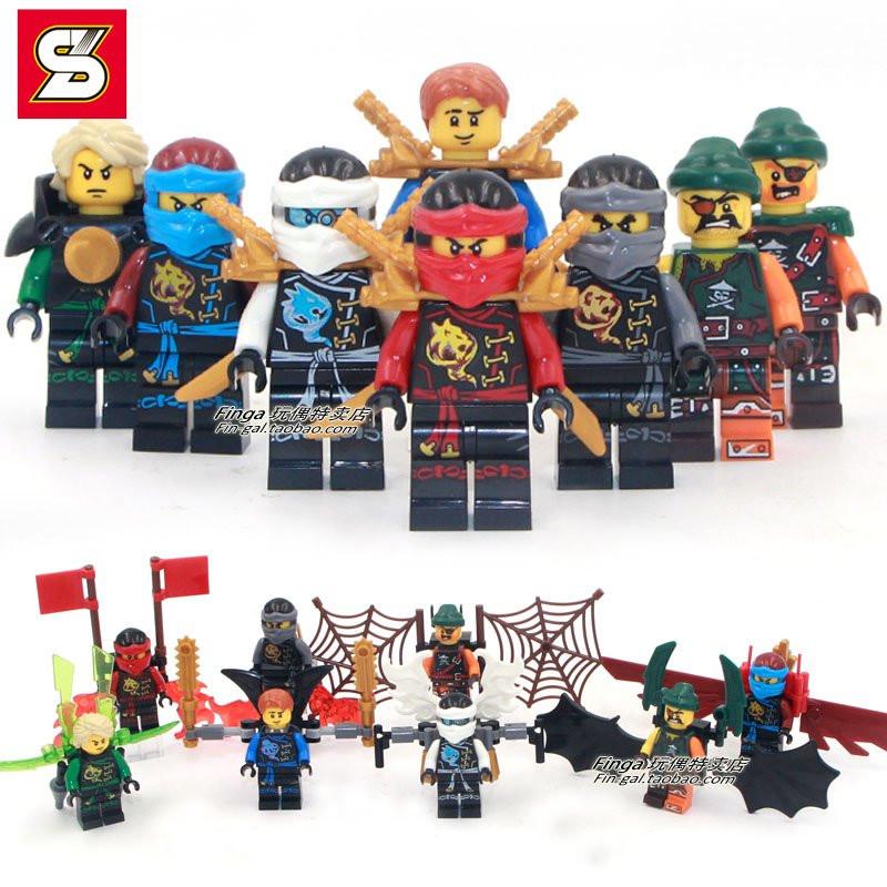 Нинзя, ninja minifigures, нинзяго минифигурки совместимые с оригинальным конструктором lego. фото №1